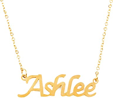 18ct Gold Plated Zacria London Name Necklace