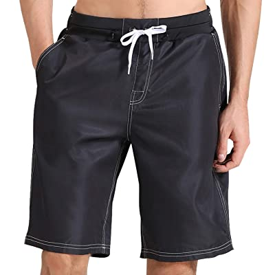aegend Men's Swim Trunks Quick-Dry Board Shorts Swimming Trunks for Men Swim Shorts with 5 Pockets Drawstring and Mesh Lining | Amazon.com