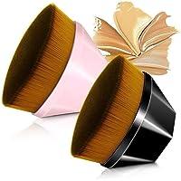 2PACK Makeup Brush Foundation Flawless Powder Brush Flat Top Kabuki Hexagon Face Blush Liquid Powder