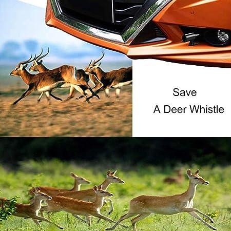 Mirrwin Fischio Ultrasuoni Fischietto per cervo Auto Fischietti Fischietti ad Ultrasuoni Fischietti Ultrasuoni Auto 4 pezzi Nero per Auto Moto Camion SUV Dispositivo di allarme per animali