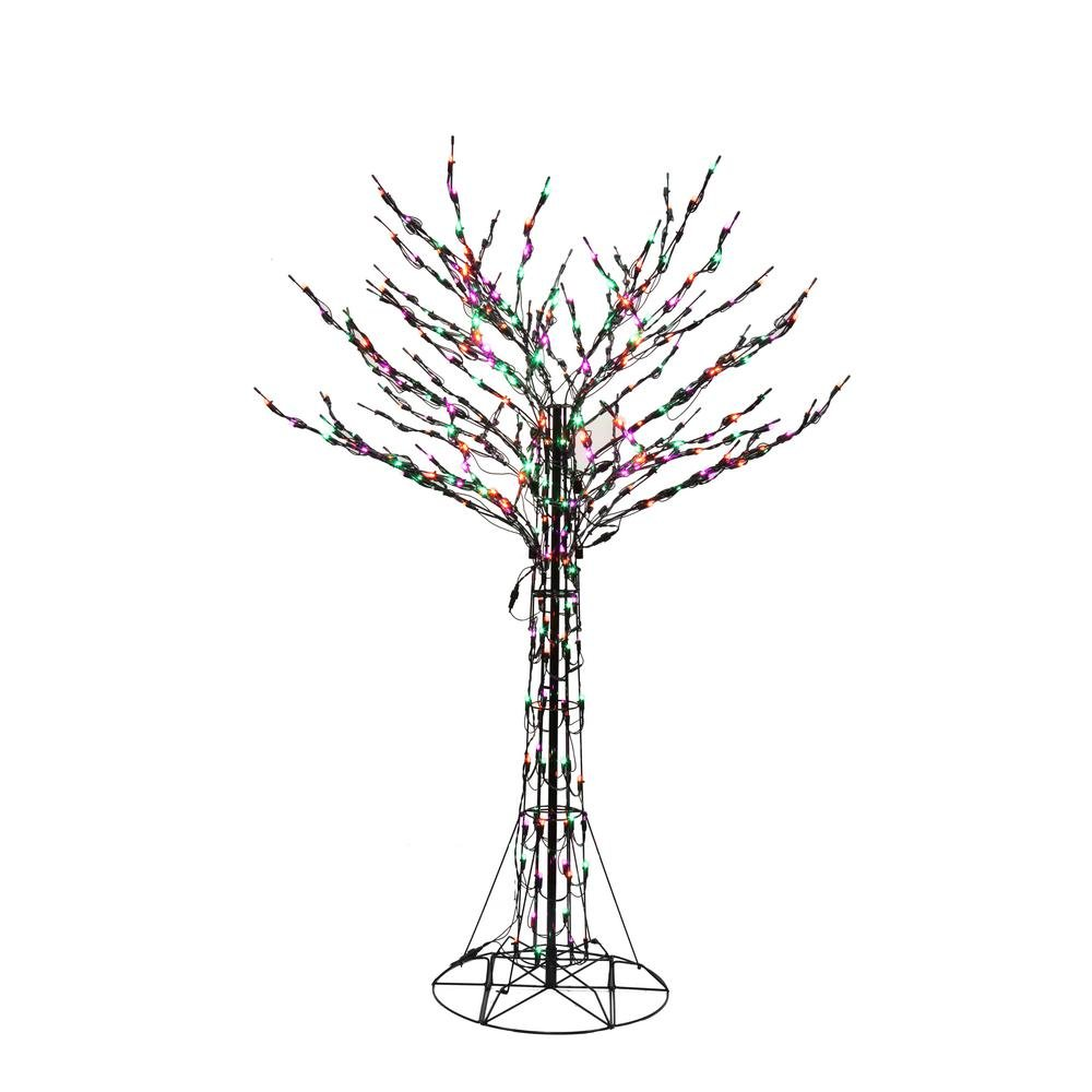 6 ft. Orange/Green/Purple Led Twig Tree by Home Accents Holiday