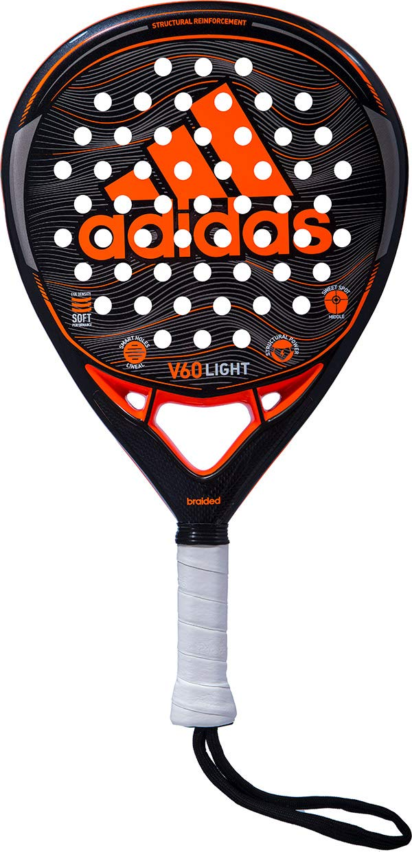 Amazon.com : adidas V60 Light Orange/Grey/Charcoal Intermediate Padel Racket : Sports & Outdoors