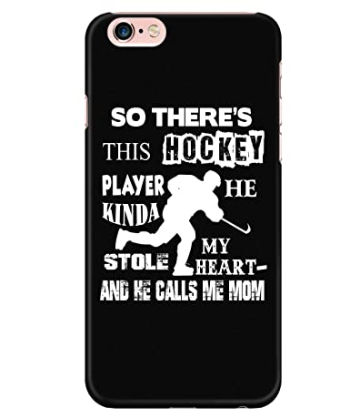 newest a8069 ee9aa Amazon.com: iPhone 6 Plus/6s Plus Case, There's This Hockey Player ...