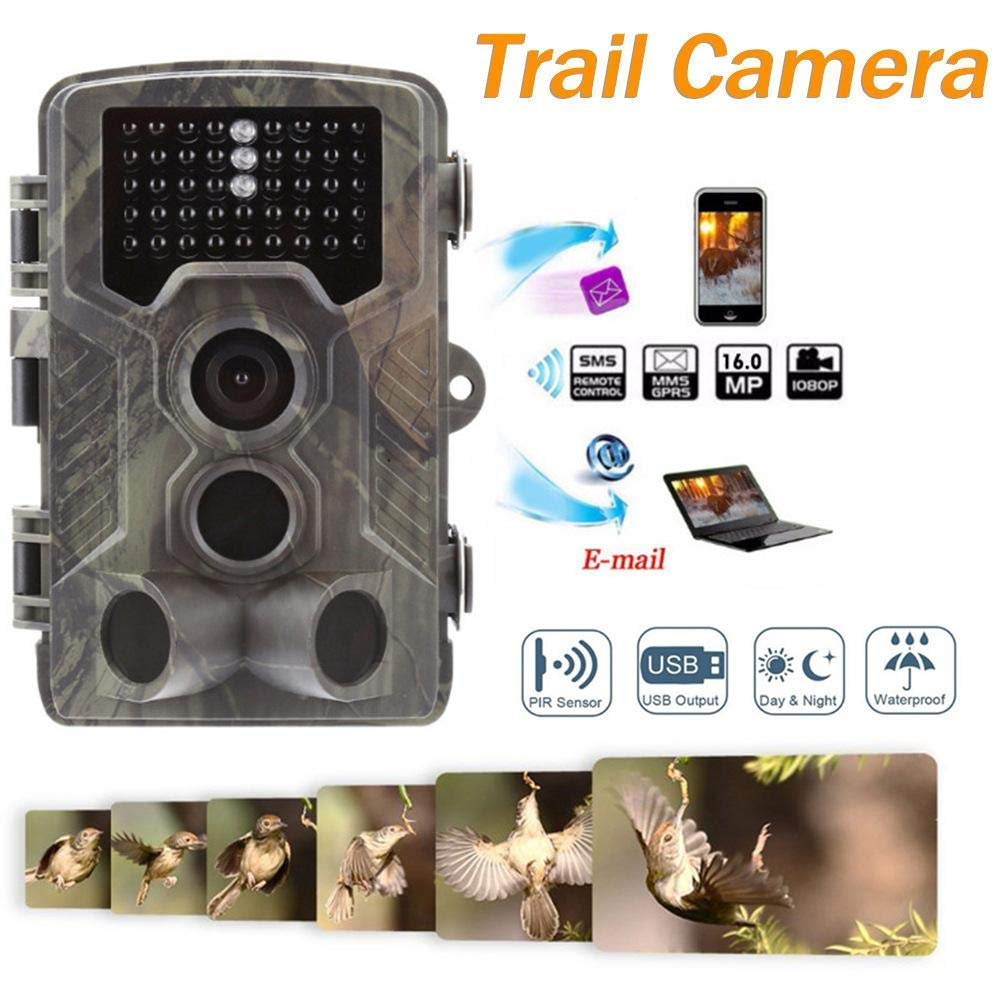 2G Camera de Chasse GSM MMS 16MP 1080P Hunting Trail Camera avec 42 Infrarouges LED Vision Nocturne Infrarouge 65pieds.800M Suntek