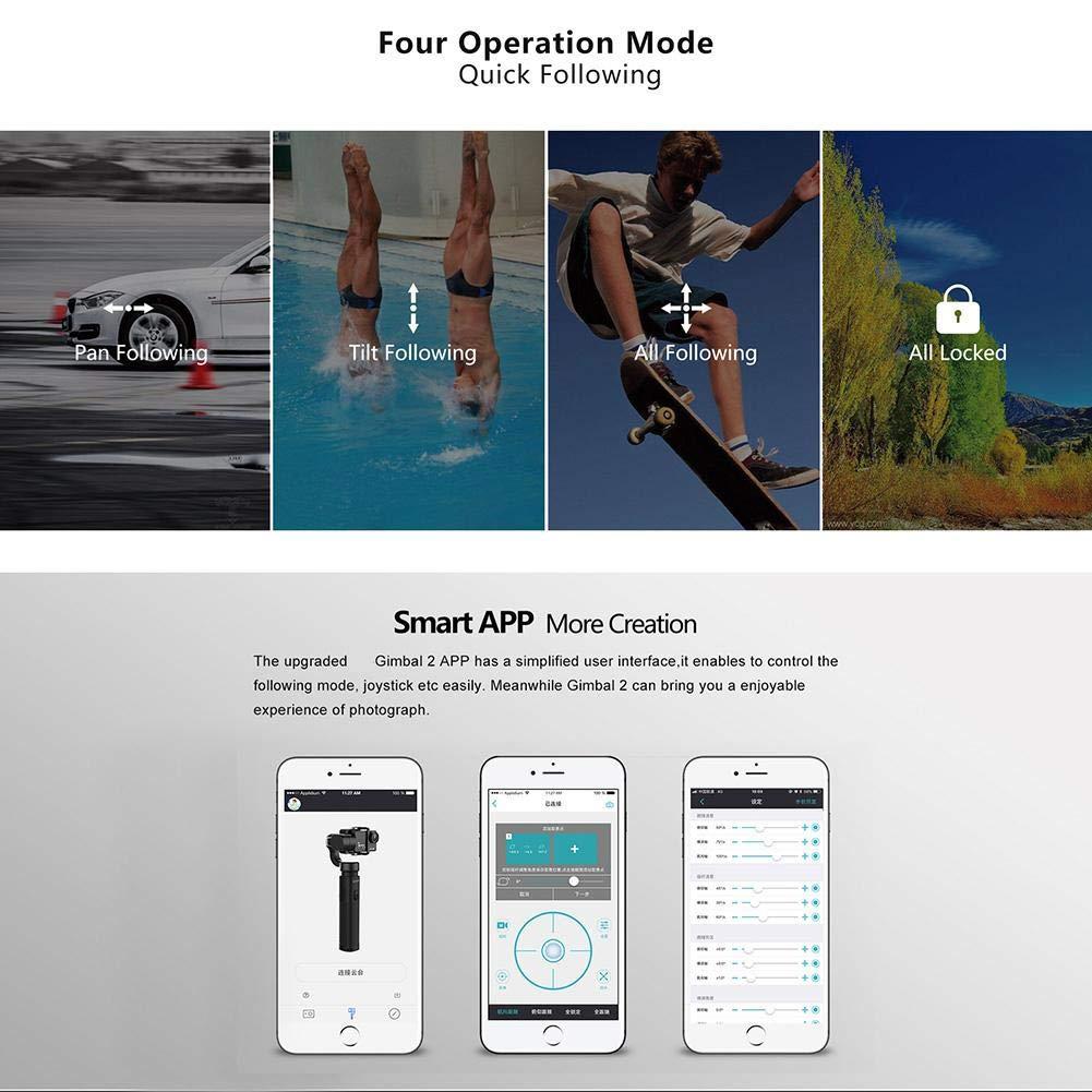 Soporte estabilizador de card/án de 3 Ejes para c/ámaras SJCAM//CAM Sony RXO//YI//Action Soporte de card/án 2 App Control Remoto