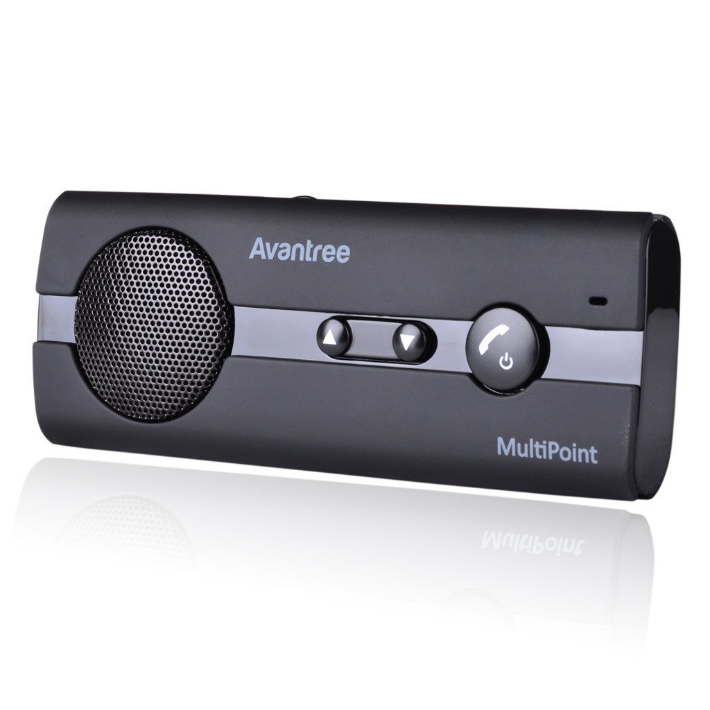 Avantree 10BP MULTIPOINT Bluetooth V4.0 Hands-Free Visor Car Kit, Support GPS, Music, Wireless in Car Handsfree Speakerphone Compatible with iPhone, Samsung Smartphones by Avantree