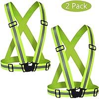 YGL Chaleco Reflectante 2 Pack,Chaleco Reflectante de Seguridad