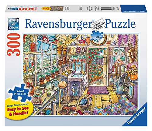Ravensburger Cozy Potting Shed Large Format 300 Piece Jigsaw Puzzle for Adults - Every Piece is Unique, Softclick Technology Means Pieces Fit Together Perfectly