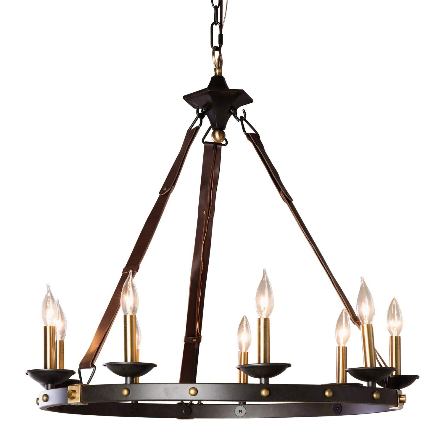Amazon com rustic chandelier lighting great for high and low
