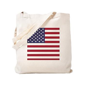 63b90f41a169 Amazon.com  CafePress - USA Flag Authentic Version - Natural Canvas ...