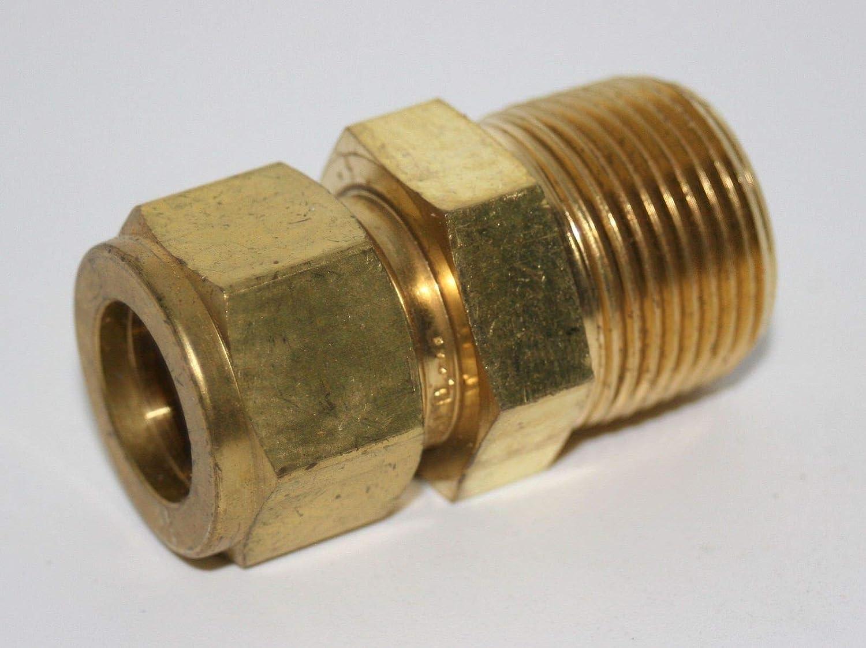 Swagelok B-400-1-2 Brass Tube Fitting Male Connector 1//4 in Tube OD x 1//8 in Male NPT Brass