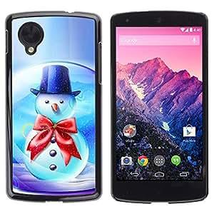 YOYO Slim PC / Aluminium Case Cover Armor Shell Portection //Christmas Holiday Snowman Globe 1088 //LG Google Nexus 5