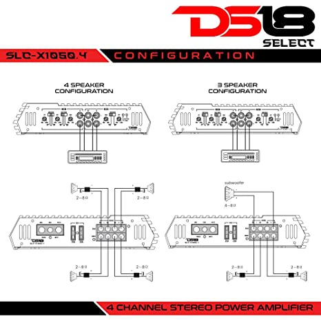 Amazon.com: DS18 SLC-X1850.4 4 Channel Class Ab Amplifier - 1850 Watts Max Power: Cell Phones & Accessories