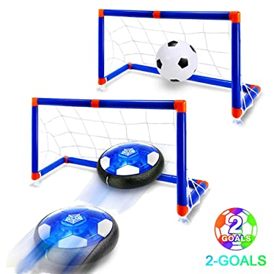 WenToyce Hover Soccer Ball Set with Goal,Kids Toys Air Soccer Rechargeable Indoor Soccer Toys for Boys-Girls-Toddler Floating Football with Led Light and Foam Bumper Including an Inflatable Ball: Toys & Games