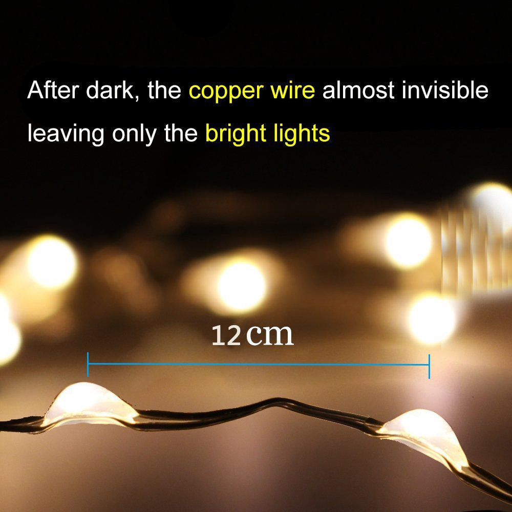 Amazon.com : Copper Wire LED String Fairy Lights Waterproof ...