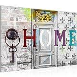 Bilder-Home-Haus-Wandbild-120-x-80-cm-Vlies-Leinwand-Bild-XXL-Format-Wandbilder-Wohnzimmer-Wohnung-Deko-Kunstdrucke-Wei-3-Teilig-100-MADE-IN-GERMANY-Fertig-zum-Aufhngen-503031a