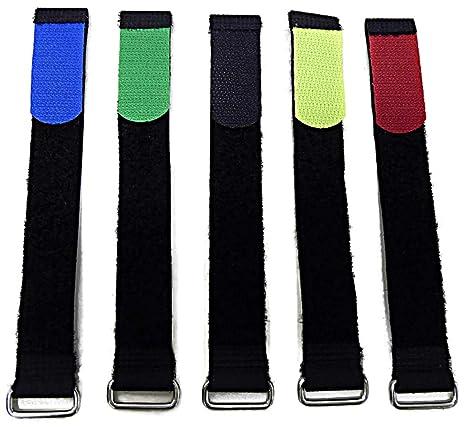 20 x Klettband Kabelbinder 16 cm x 16 mm blau Klettbänder Kabelklett Metallöse