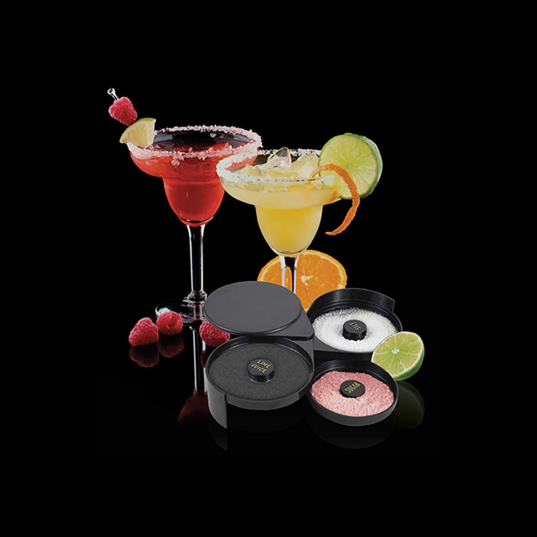Bar Supplies Set - 3 Tier Glass Rimmer + 6 Alcohol Pour Bottles + 6 Liquor Bottle Pourers W/Tapered Spout by HeroFiber (Image #6)