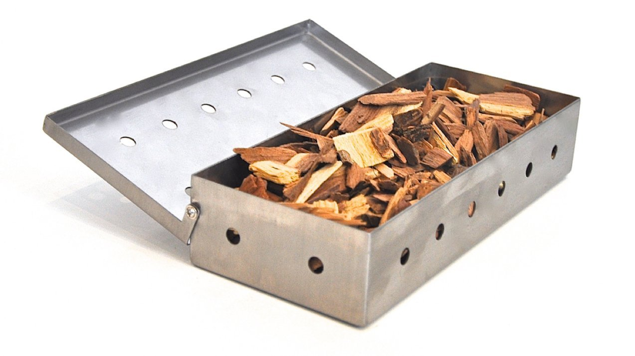 wood chip smoker box hot cold smoke generator for gas charcoal grill bbq smoking 6953882034264. Black Bedroom Furniture Sets. Home Design Ideas