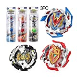 Bey Battling Rotary Gyro Spinner Top Peg-top Kids Toy Gift with Launcher Beyblade burst B104,B105 andB106-3 PCS