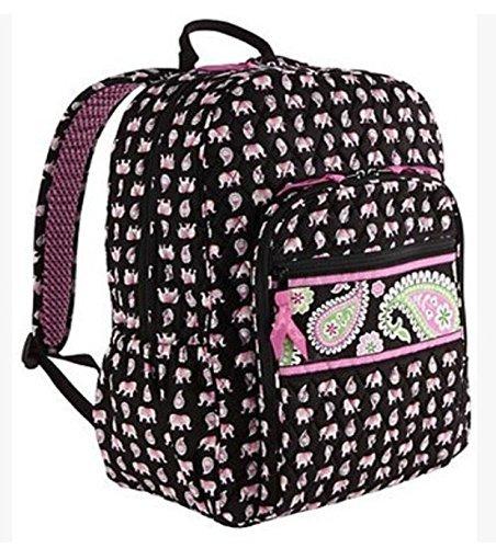 Vera Bradley Campus Backpack Pink Elephants