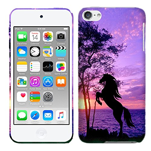 Glisten Designer Hard Plastic Case for iPod Touch 6, iPod Touch 5 - Horse . Slim Profile Cute Printed Designer Snap on Case by Glisten by Glisten