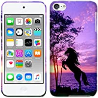 iPod Touch 6 Case, iPod Touch 5 Case - Horse Hard Plastic Back Cover. Slim Profile Cute Printed Designer Snap on Case by Glisten