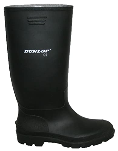 356593225b44 Dunlop Wellies Black and Green Mens Fully Waterproof Sizes 3-12   Amazon.co.uk  Clothing