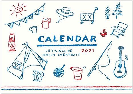 Amazon イラストライフカレンダー 壁掛けタイプ 21年1月から12月対応 Ck2105 カレンダー 文房具 オフィス用品