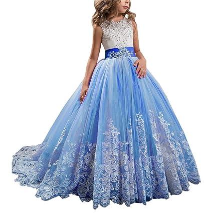 Styhatbag Vestidos Formales de Fiesta Vestido de Novia de Encaje Infantil Tutu Vestido de Princesa Cumpleaños