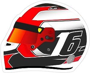 Jess-Sha Store 3 PCs Stickers Charles Leclerc Ferrari Helmet, Charles Sticker for Laptop, Phone, Cars, Vinyl Funny Stickers Decal for Laptops, Guitar, Fridge