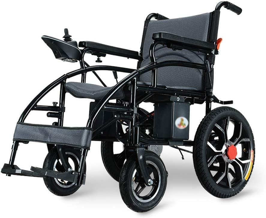 LUNYI Silla de Ruedas eléctrica Plegable Ligero Anciano discapacitado Inteligente batería de Litio de Cuatro Ruedas Carga de Scooter de Cuatro Ruedas 150 kg, Potencia 250W