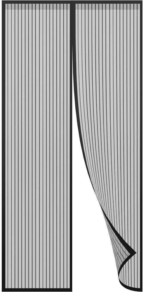 Portes Noir 95 x 220 cm Moustiquaire Porte Magn/étique Moustiquaire sur Mesure de Porte,Rideau de Porte Antimoustique Patio.Facile /à Installer Le Joint d/étanch/éit/é pour Couloirs