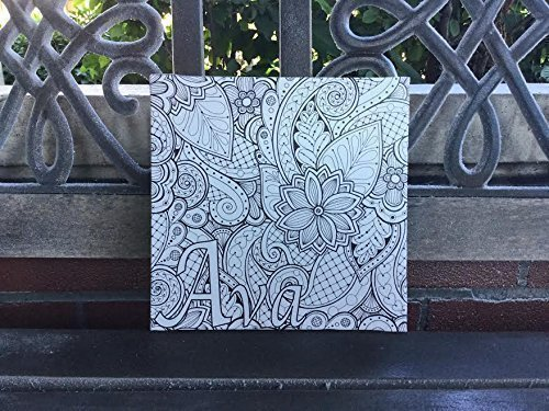 Amazon.com: Custom Coloring CANVAS, Adult Coloring, Color Your Own ...