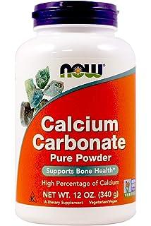 Amazon.com: Carbonato de calcio de NOW Foods, B001F0R80E, 12 ...