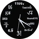 Demiawaking 3D手作り DIY 壁時計 ウォールクロック  ウォールステッカー  時計を壁面に自由自在に設置できます 部屋装飾 模様替えに 簡単 おしゃれ数学数式型!