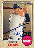Travis Shaw autographed baseball card (Milwaukee Brewers) 2017 Topps Heritage #118