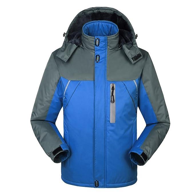 iShine Cappotto Uomo Elegante Cappotto Invernale Giacca Impermeabile 3  Colori f8c45739118