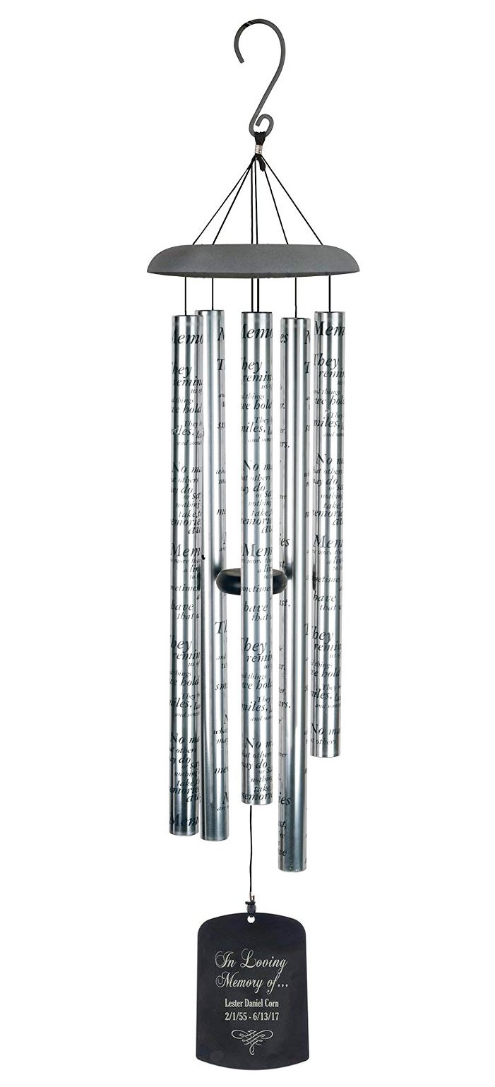 Carson - Home Accents Personalized Wind Chime Aluminum (Memories)