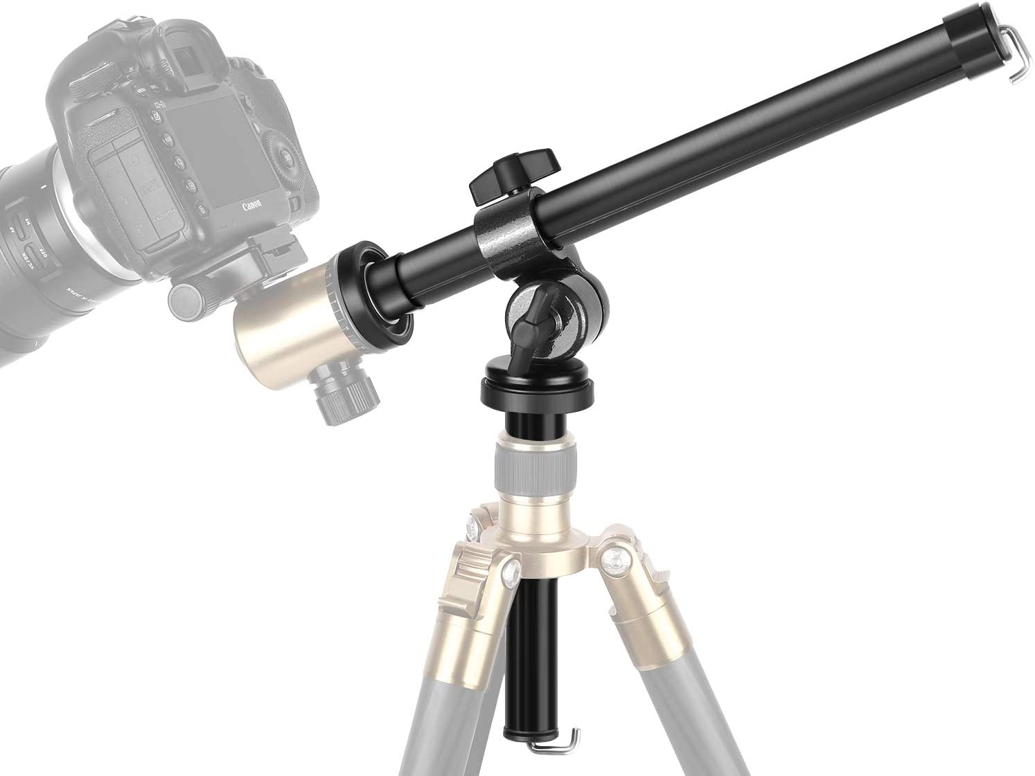 Professional Photography Bracket Clamp Aluminium Alloy Portable Camera Video Slider Support Tripod Rods for Studio Outdoor Macro Over Head Shooting