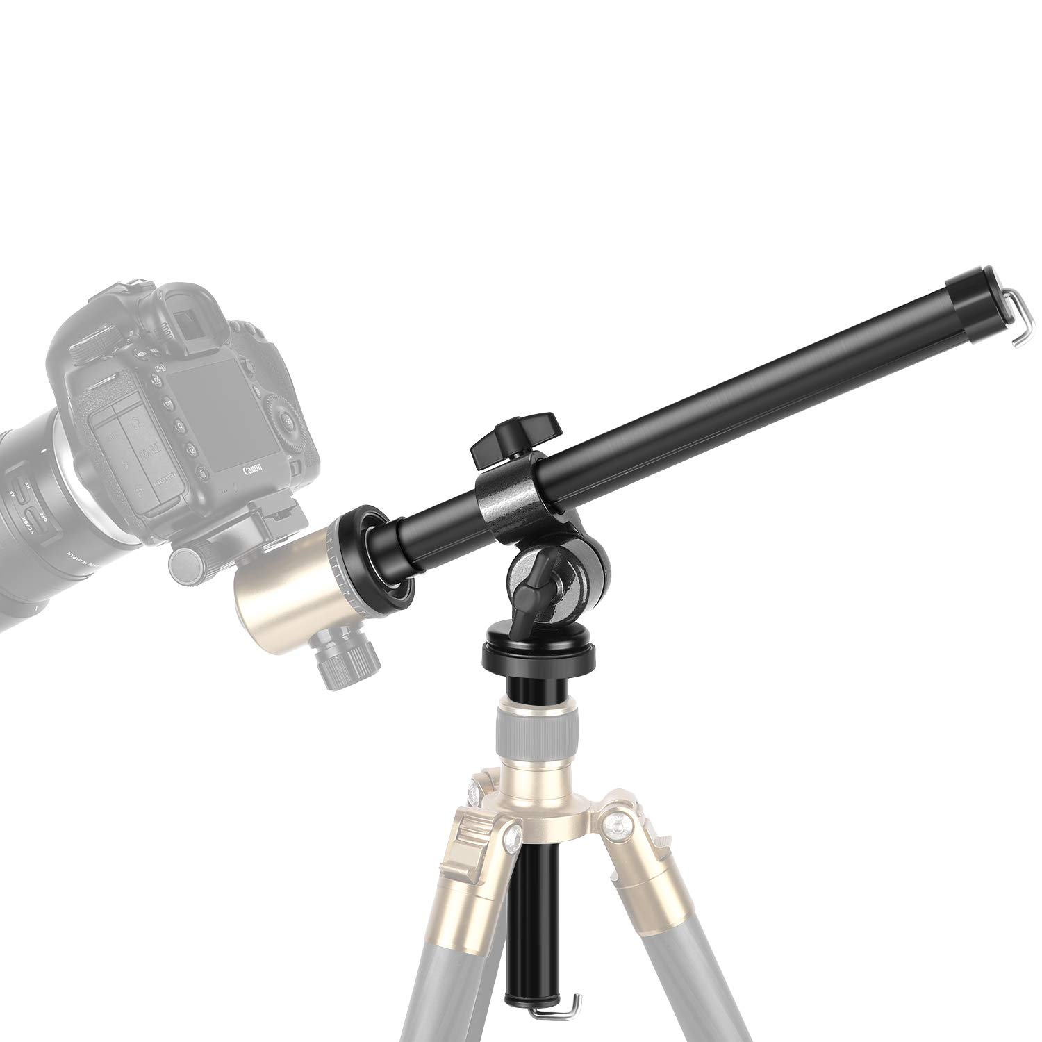 Neewer Camera Tripod Boom Arm: External Multi-Angle Center Column Extension Arm for Studio Outdoor Macro Over Head Shooting (32cm Length, 5kg Load Capacity, 25mm Tube Diameter, Ball Head Not Included)