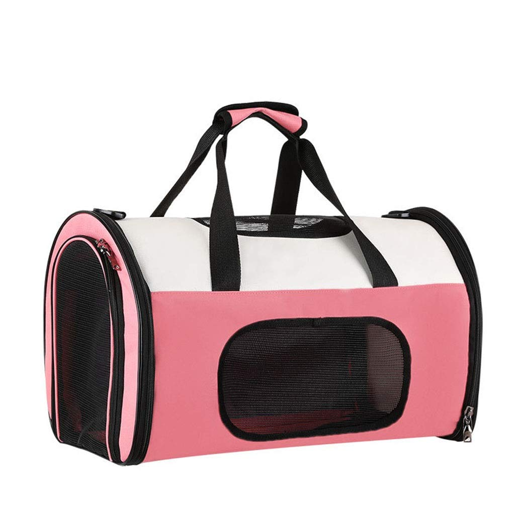 Pink S 45×28×29cmJlxl Pet Carrier Portable Cat Expandable Airline Approved Puppy Travel Carrier Foldable Bag with Soft Fleece Bed and Food Pocket (color   Black, Size   S 45×28×29cm)