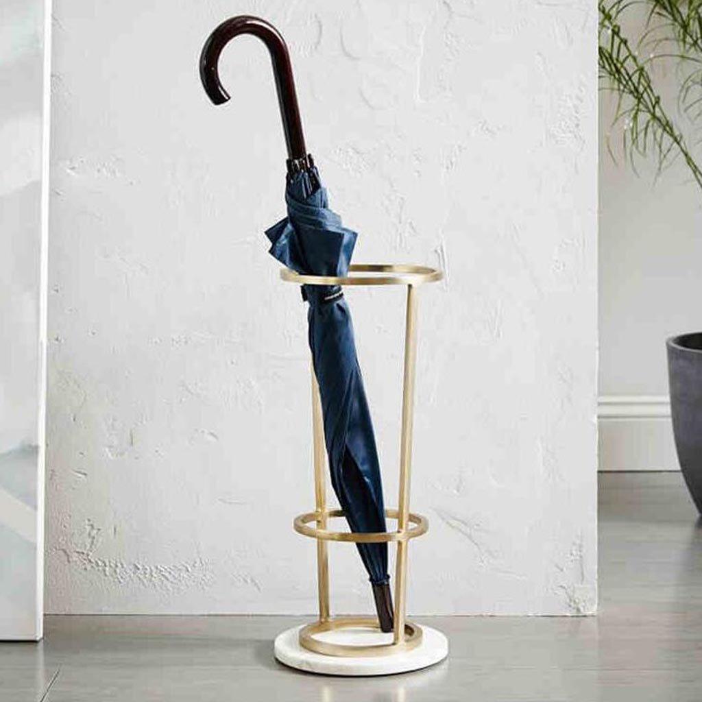 Wrought Iron Creative Floor-Standing Umbrella Shelf AJZGF Standing Storage Simple Umbrella Bucket
