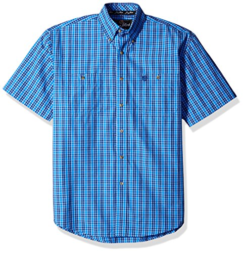 Wrangler Men's George Strait Two Pocket Short Sleeve Woven Shirt
