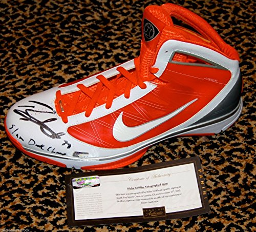 Nike Slam Dunks (Blake Griffin signed SLAM DUNK CHAMP Nike Shoe Panini COA SIZE 16.5 LA CLIPPERS)