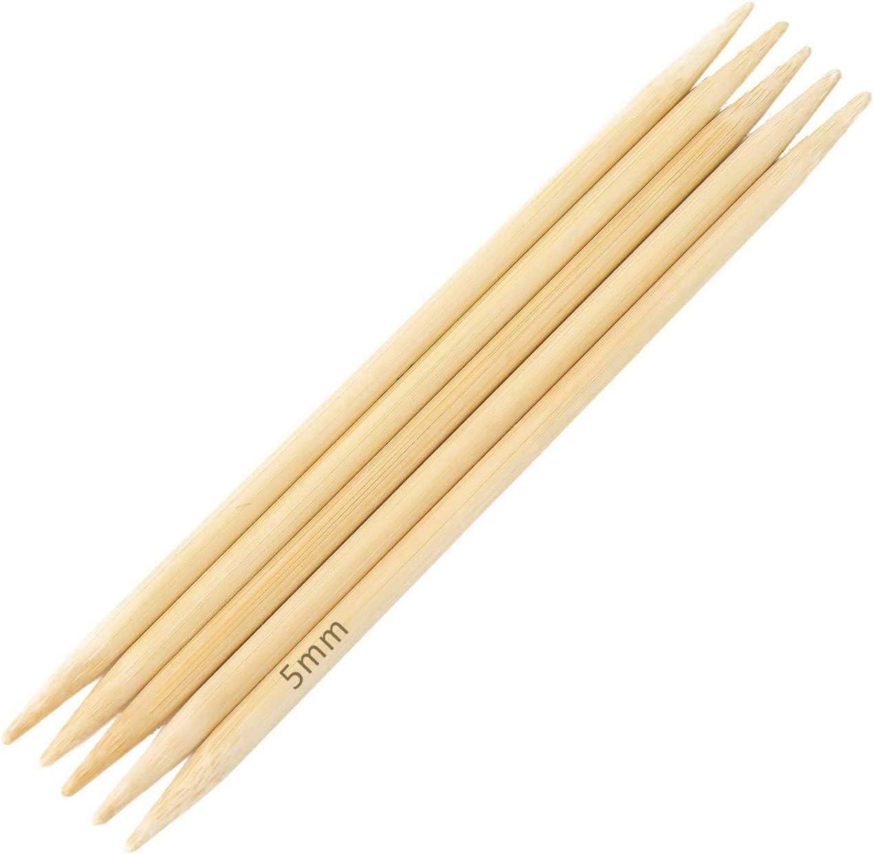 Bambus Nadelspiel Strumpfstricknadeln L/änge und St/ärke w/ählbar Gr/ö/ße:15cm x 2.0mm