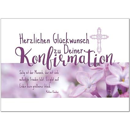 Glückwunschkarte Konfirmation Mit Umschlagfür Mädchen Rosa