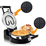 Secura Detachable 360 Rotating Belgian Waffle Maker w/Removable Plates