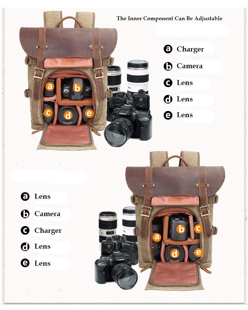 Camera Sac /à Dos Toile SLR DSLR Camera Bag Grande capacit/é Avant Ouverte imperm/éable Antichoc Sac /à Dos Photo Camera Sac de Voyage Professionnel Organiseur de lentille de lappareil Photo