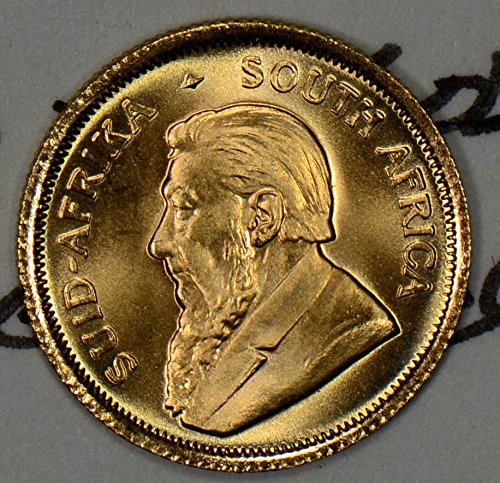 1982 ZA GL0023 South Africa 1/10 Krugerrand gem BU agw .1 oz of pure gold DE (0.1 Ounce Gold Coin)